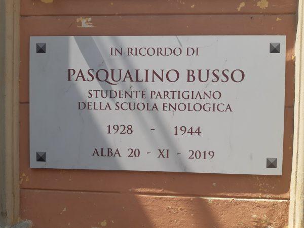 75° ANNIVERSARIO DELL'UCCISIONE DI PASQUALINO BUSSO (1944-2019)